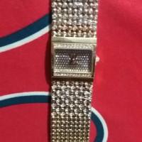 new jam tangan wanita LV RANTAI GOLD 2 JARUM KW SUPER