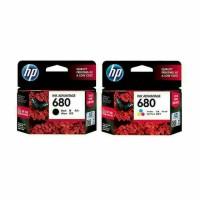 Paketan tinta HP 680 black + HP 680  colour original