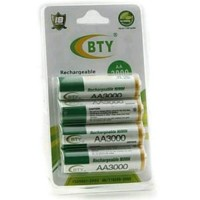 Rechargeable Battery BTY-5 4pcs AA 3000mAH 1.2V ni-mh