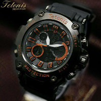 Jam tangan pria sport Tetonis original (water proof) garansi resmi
