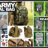 Tas Army Ransel back bag Tactical anti air Military laptop camo loreng