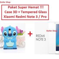 [PAKET] Soft Case 3d + Tempered Glass Xiaomi Redmi Note 3 / Pro