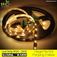 Lampu LED Strip Flexible Kuning Warm Roll 5 Meter 4,8W  IP20 SMD 2835