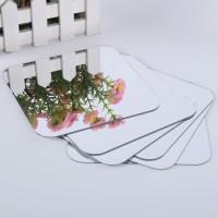 hiasan dinding cermin kotak impor mirror wall stiker kaca