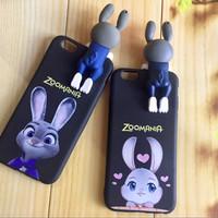case casing iphone 6 6s 7 plus zootopia boneka cute murah unik lucu