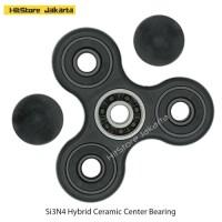 Fidget Spinner Hand Spinner Ceramic Hybrid Bearing Spinner Hitam