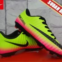 sepatu bola  Nike Mercurial Superfly X Kuning Pink KW Super