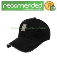 Topi Baseball Snapback Golf Logo Ediko Sport Fashion - Black