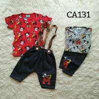 Setelan anak laki-laki suspender (CA131)