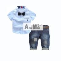 Blue Shirt Set 4in1 Ann Mee Size Medium