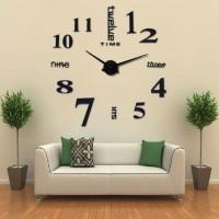 Jam Dinding DIY 80-130cm Diameter - ELET00659 / Hitam