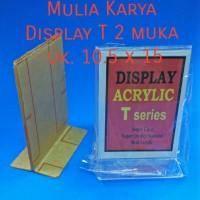 Acrilic sign holder T 10x15 2 muka