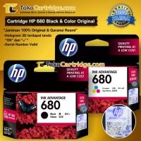 Tinta HP 680 Black & Colour ORIGINAL (1 SET) Tinta HP F6V27AA F6V26AA
