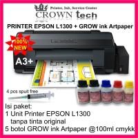 PRINTER A3 cetak sticker,label,bontaq,artpaper,vinyl,transparan,kaosTP