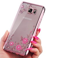 TPU FLOWER Samsung Note 3 4 5 S7 Edge soft case casing back cover hp