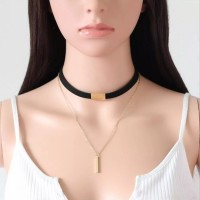 Kalung Choker A104 Double Layer Gold Necklace