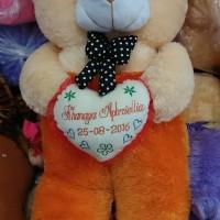 Boneka bear jojon ukir nama tempel bantal