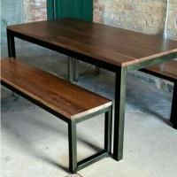 Set meja kursi cafe restoran taman rumahmakan kantor workstation table