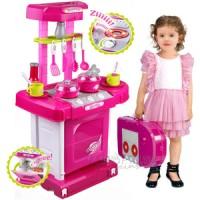 Mainan Anak Kitchen Set Koper Besar Pink / Mainan Masak-Masakan