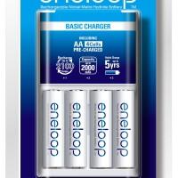 Panasonic Eneloop Basic Charger + 4 baterai AA 2000mAh