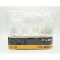 Kalibre 7in1 Travel Bottle Set Kit Botol Kosmetik Lotion Obat Cream