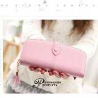 ONE BUTTON OVAL WALLET - NAMY SHOP