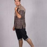 Baju Batik Pria Kemeja Lengan Pendek Hem Batik Solo Bambu Salur