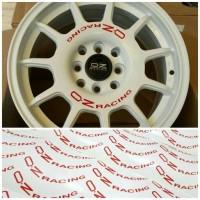Set 8 pcs stiker untuk 4 velg mobil OZ Racing Leggenda