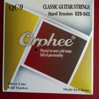 senar gitar klasik nylon QC9 Orphee Import (hard tension 028-045)