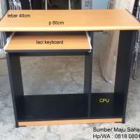 Meja Komputer Lab Sekolah Kerja Kantor Kecil SMS-80cm MURAH GROSIR
