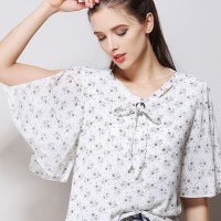 Euro Floral Loose Blouse For Woman