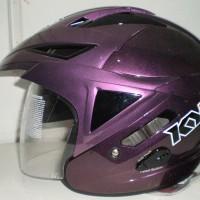 Helm KYT Scorpion King Purple Solid Ungu Halface Double Visor