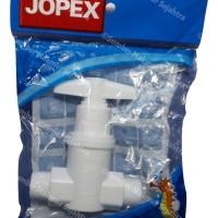 Jopex Keran Air Drat Luar / Stop Kran Bidet WC Plastik PVC MT 01W
