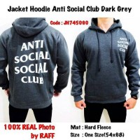 Jacket Hoodie - Anti Sosial Club Dark Grey