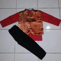 baju koko anak merah senshukei