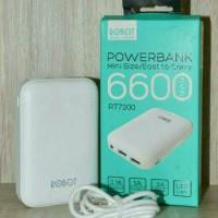 PowerBank ROBOT 6600MAH RT7200 Pb murah pb original pb tahan lama