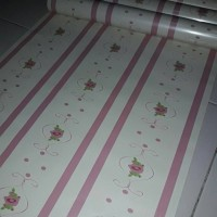 WK Wallpaper Sticker Pink Border Line Flower