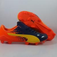 Sepatu Bola Puma Evospeed 17 SL S Ultra Yellow / Orange Replika Impor