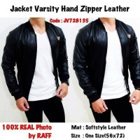 Jacket Varsity Hand Zipper Leather