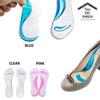 Insole Gel Pad Sepatu / Bantalan Kaki Non-Slip Silicone Support - Blue