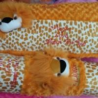 set bantal guling cita macan ukir nama
