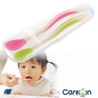 Richell Soft Feeding Spoon Set with Case / Sendok Makan Bayi Richell