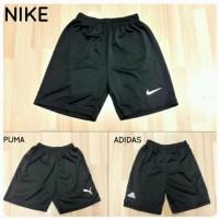 Celana Training Olahraga Pendek Hitam Big Size XXL Adidas Nike Puma