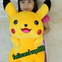boneka pokemon pikachu besar jumbo real pict