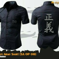 Kemeja Anime One Piece Marine Special Army Shirt (SA OP 08)