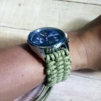 gelang jam untuk jam tangan outdoor tahan air tahan debu paracord