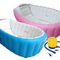 INTIME INFLATABLE BABY BATH TUB SPA BAK ANGIN MANDI ANAK BAYI BATHTUB