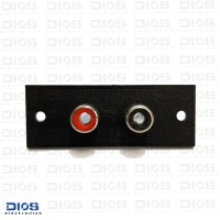 RCA Chasis 2 PIN Female Plastik