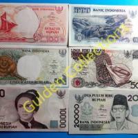 Uang Kuno Indonesia Set 90an Koleksi UNC Baru Gress