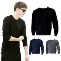 Sweater Fleece Basic Polos Murah - Jaket Pria Wanita Rajut